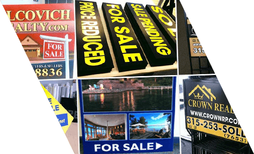 Various Real Estate Signs